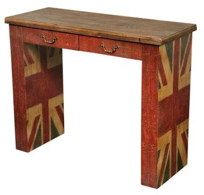 Vintage Union Jack Console Table Width: 41cm