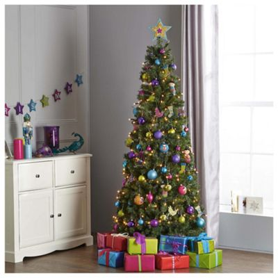 Tesco 6.5ft Evergreen Slim Pop Up Christmas Tree