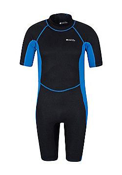 Mens Shorty Neoprene Surf Summer Wet Suit Wetsuit - Electric blue