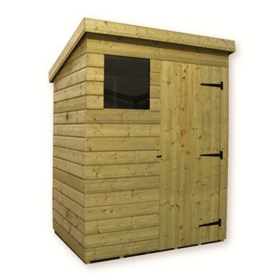 5 x 3 Maldon Pressure Treated T&G Pent Shed + 1 Window + Single Door (5ft x 3ft)