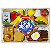 Melissa & Doug Wooden Food Groups Playset