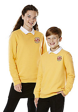 Unisex Embroidered School Sweatshirt with As New Technology - Gold