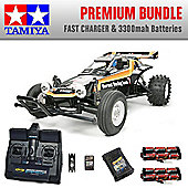 TAMIYA The Hornet RC Car Premium Bundle 2x Batteries Fast Charger 58336