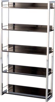 Home Essence Boston Five Shelf Bookcase/Display Unit - Black
