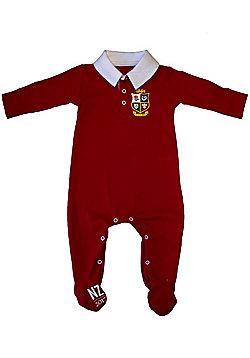 British & Irish Lions Rugby Baby Sleepsuit - Red - Red