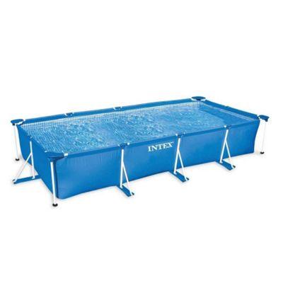 Intex Rectangular Metal Frame Pool No Pump 177 1/4