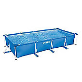 "Intex Rectangular Metal Frame Pool No Pump 177 1/4"" x 86 5/8"" x 33"" - 28273"