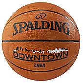 SPALDING NBA Downtown Rubber Outdoor Basketball Size 7, Brick
