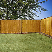 Mercia Vertical Hit and Miss Fence Panel 4ft Dipped