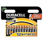 12 x AAA Duracell Plus Power 1.5V Alkaline Batteries