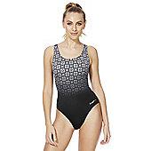 Zoggs Deco Noveau Monochrome Ombre Panel Swimsuit - Black