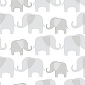 Elephant Parade Grey Wallpaper
