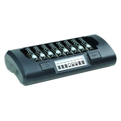 MH-C800S 8-Cell Battery Charger with LCD Display for AA/AAA cells