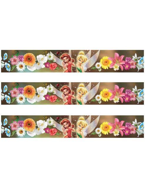 Disney Fairies Flowers Self Adhesive Wallpaper Border 5m