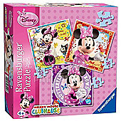 Minnie Mouse 3 In A Box - Puzzles (25,36,49) - Ravensburger