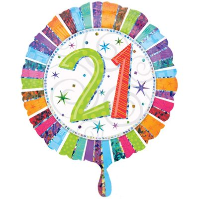 Radiant 21st Birthday Foil Balloon 18
