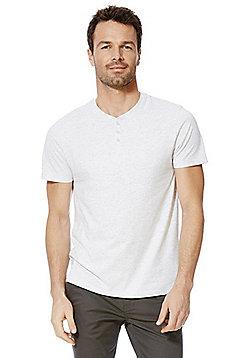 F&F Marl Grandad T-Shirt - Grey marl