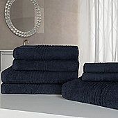Highams Luxury Egyptian Cotton Towel Bale 7 Piece - Charcoal