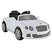 Bentley Continental Gtc By Zaap Ride-On Electric Kids Car White