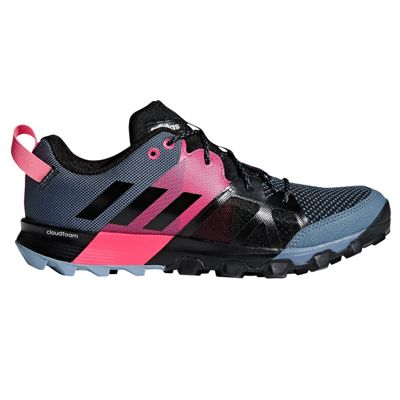 adidas Kanadia 8.1 Trail Womens Running Trainer Shoe Black/Grey/Pink - UK 6