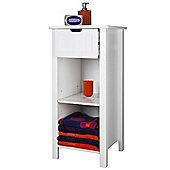 Sennen Open Storage Cabinet, White