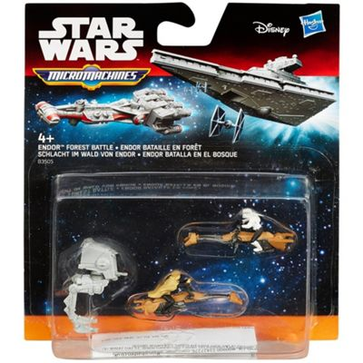 Star Wars Return of the Jedi Micro Machines 3-Pack Endor Forest Battle - Dolls and Playsets