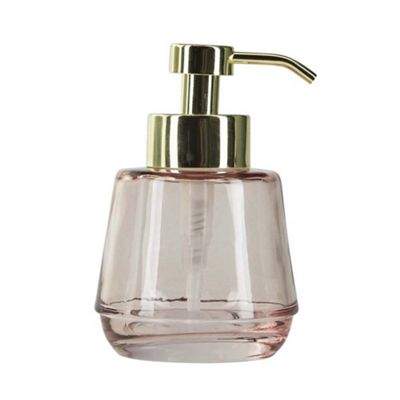 Bahne Soap Dispenser Glass Blush Pink and Gold