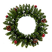 50cm Cones and Berries Artificial Christmas Wreath