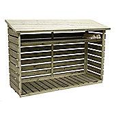6 x 2 Maldon Pressure Treated T&G Log Store (6ft x 2ft)