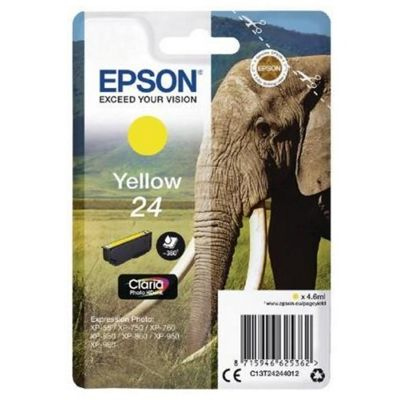 Epson Singlepack Yellow 24 Claria Photo HD Ink C13T24244012