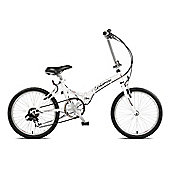 "Viking 13"" Urbanisi Folder 6-Speed 20"" Wheel White"