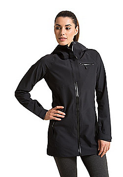 Zakti Into The Wilds Coat Isodry Fully Waterproof with Longer Length - Black