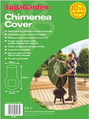 Woodside Waterproof Garden Chimenea Cover - 122cm x 61cm