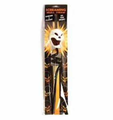 Screaming and Flashing Skull Drinking Straw