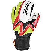Reusch Waorani D1 Ortho-Tec Goalkeeper Goalie Glove Red/ Lime - Red