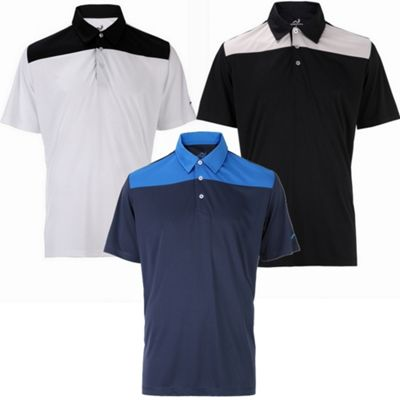 3 Pack Woodworm Golf Panel Polo Shirts - Mens Medium