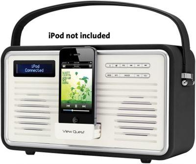 VIEWQUEST RETRO DAB+/FM RADIO WITH IPOD DOCK (PINK)