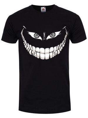Crazy Monster Grin Men's T-shirt, Black.