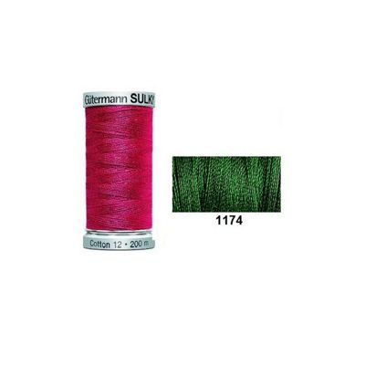 Gutermann Sulky Cotton 200m Dark Pine Green