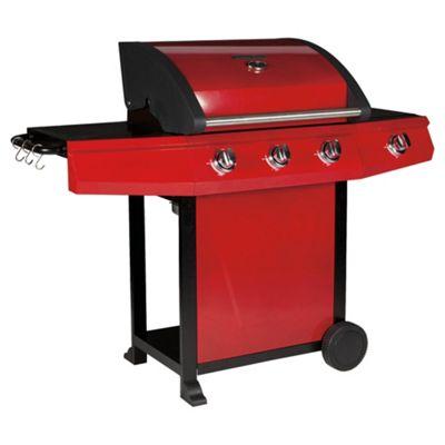 Tesco Red Premium 3 Burner Gas BBQ + Side Burner