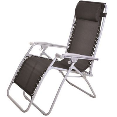 Black Zero Gravity Reclining Garden Chair