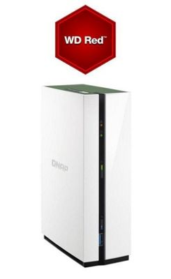 QNAP TS-128A/4TB-RED 1-Bay 4TB (1x4TB WD RED) Lightweight and powerful entry-level NAS for private cloud and home entertainment