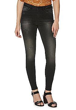 Vero Moda Seven Super Slim Jeans - Washed black