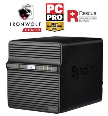 Synology DiskStation DS418j/40TB-IW Pro powerful entry-level 4-bay 40TB(4x10TB Seagate IronWolf Pro) NAS