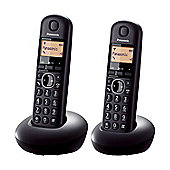 Panasonic KXTGB212EB Digital Cordless Phone with 2 Handsets in Black