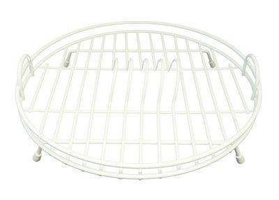 Delfinware Plastic Coated Circular Dish Drainer in White