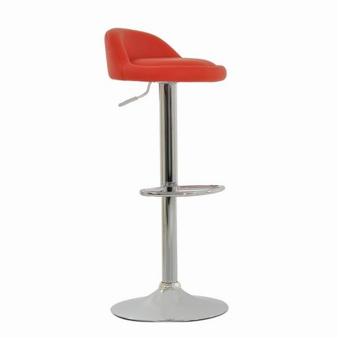 Tempo Red Faux Leather Bar Stool