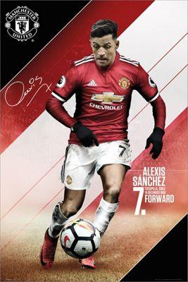 Manchester Utd FC Sanchez 17-18 Poster 61x91.5cm