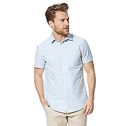 F&F Striped Short Sleeve Oxford Shirt - Green
