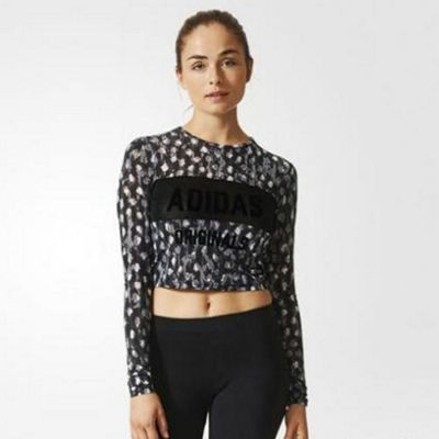 adidas Originals Womens Cropped Long Sleeved Top - 12